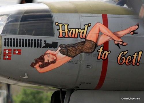 nose art: 'Hard' to Get!