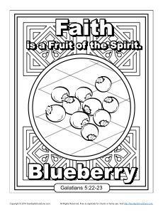 fruit of the spirit faith coloring page
