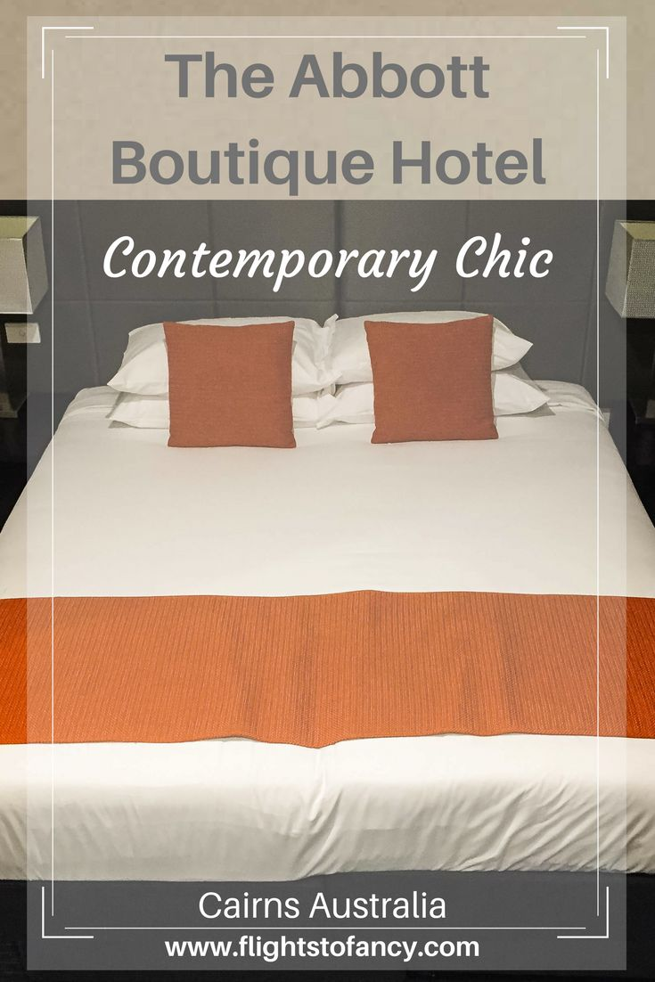 The Abbott Boutique Hotel Cairns fills a massive void in the Cairns accommodation scene by offering a central location, great value and contemporary chic. If you are heading to Tropical North Queensland, this hotel should be on your short list.