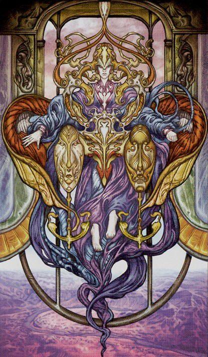 II - La grande prêtresse - Universal Fantasy Tarot par Paolo Martinello