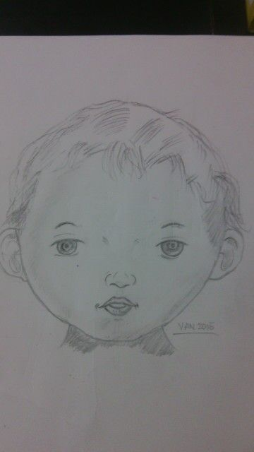 Baby Drawing by Mommy Van