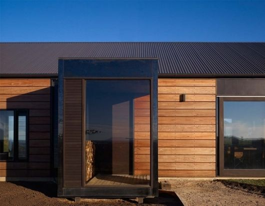 Timber cladding/ glass porch