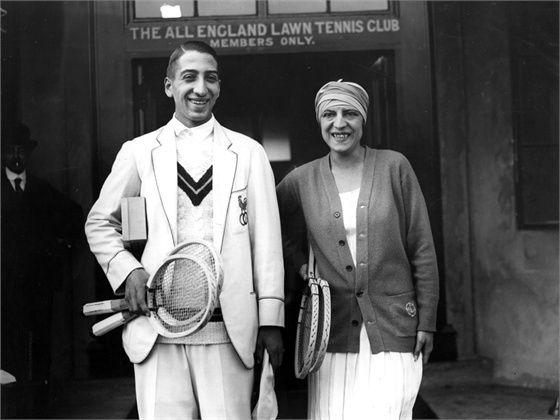 René Lacoste et Suzanne Lenglen en 1924