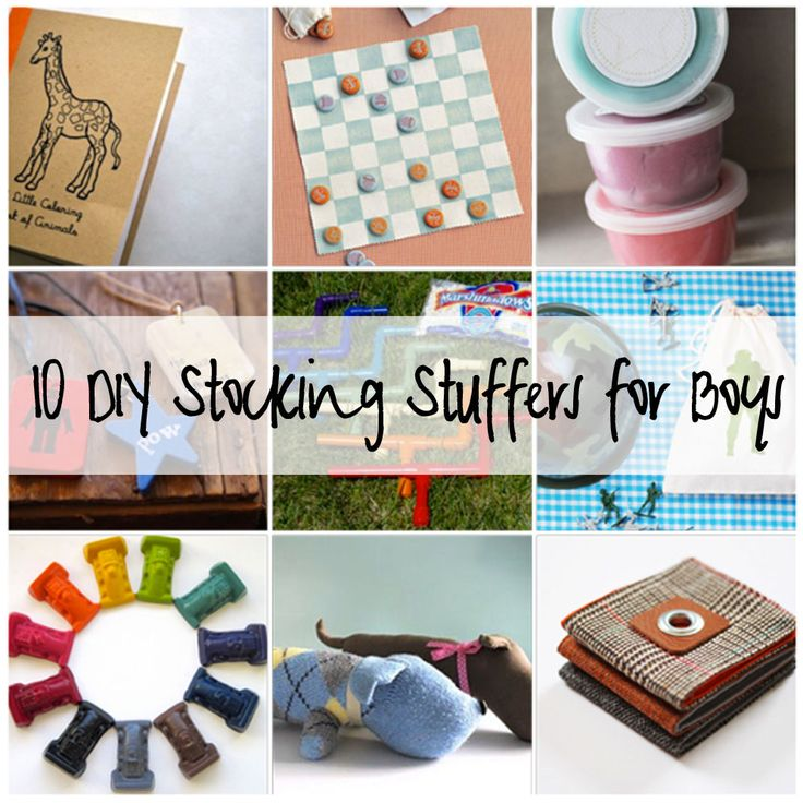 Gifts for boys10 Diy, Stuffers Ideas, Boy Stuff, Gift Ideas, Diy Stockings, Stocking Stuffers, Diy Gifts, Stuffers Boys, Stockings Stuffers