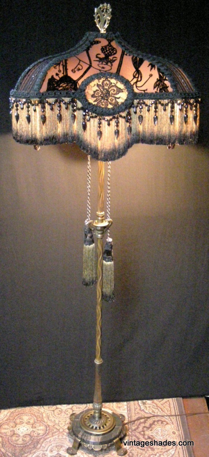 Antique floor lamp with table - This Lamp Is An Amazing Antique Rembrandt Floor Lamp Made In The U S A In