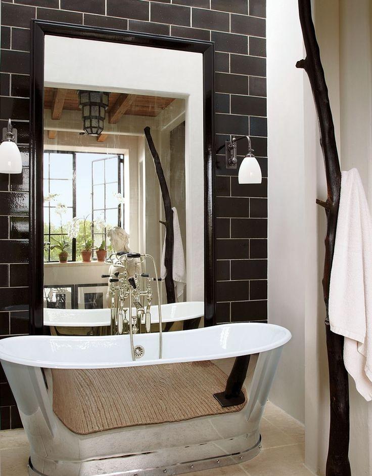 Черно-белая ванная комната (56 фото): шик и оригинальность в вашем доме - HappyModern