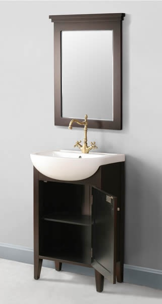 BRVA_ST_GM_6120_23: Small Contemporary Single Sink Vanity (23 inch) with Dark Brown Cabinet Finish and Bonus Mirror (Magnolia) MSRP Price: $1,199.00 Our Regular Price: $899.00 On Sale Now: $699.00