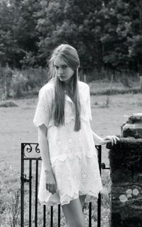 Keira dress in 100% cotton broiderie anglais is the perfect dress for the early summer weather