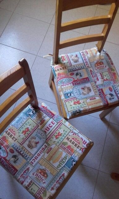 Cojines para las sillas