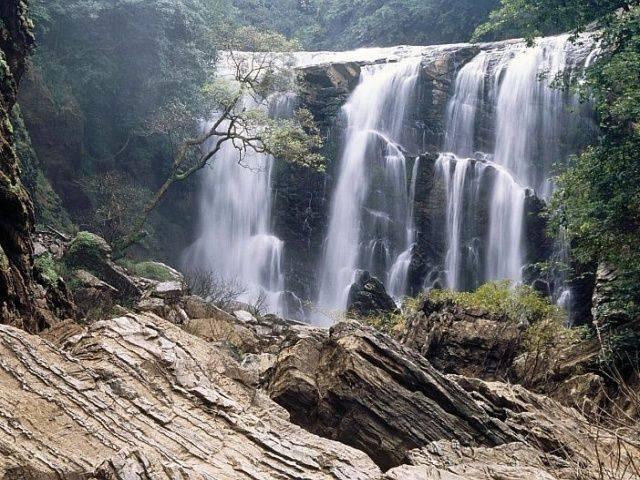 The beautiful Sathoddi falls in the western ghats near Sirsi in the state of Karnataka, India.
