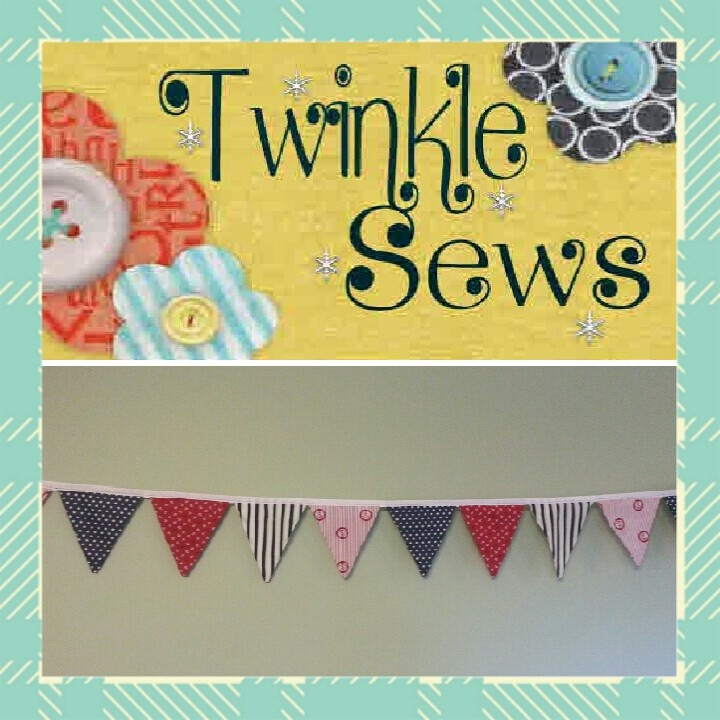 New to Twinkle Sews!! BUNTING :)