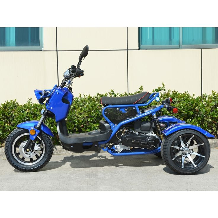 Boom 49cc Trike Mean Dogg Scooter Gas Moped BD50QT-3ATW 3 Wheels!! Free shipping
