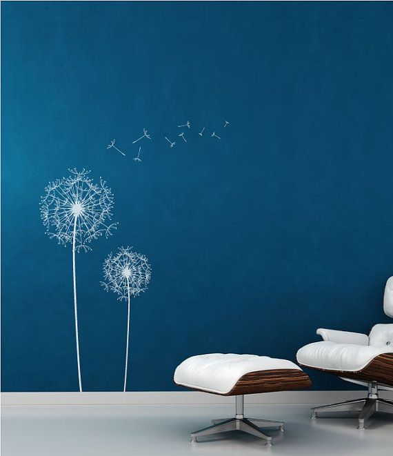 Dandelion Wall Decal Wall Sticker by decoryourwall on Etsy