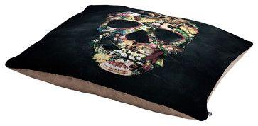 Ali Gulec Vintage Skull Pet Bed - eclectic - Pet Care - DENY Designs
