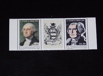 Stamp Pickers St. Thomas & Prince 1982 Washington MNH S/S Sc #663A $14+