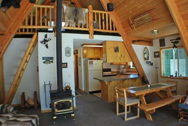 A Frame Cabin Built In 1968 In The Woods Of... | Cabin, Woods And Cabin  Fever