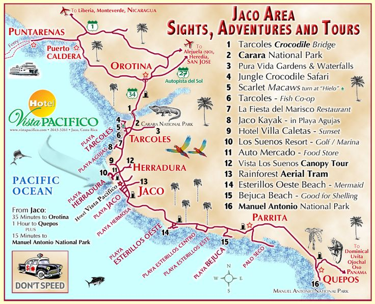 Jaco Costa Rica Map   IF YOU HAVE ANY QUESTIONS