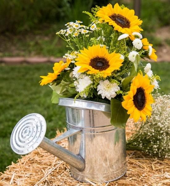25 sunny flower arrangements making great yard decorations and table centerpieces