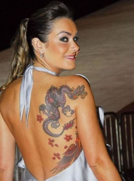 dragon shoulder and arm tattoos | Amazing-Back-Shoulder-Dragon-Tattoo-for-Women1.jpg