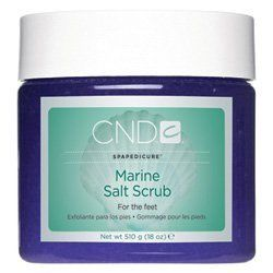 CND Marine Salt Scrub by CND Cosmetics. $35.50. A mineral and Dead Sea salt scrub that gently polishes and conditions the skin. Soften and condition the skin with Sunflower Oil and Yarrow Flower Extract. Leaves the skin with an amazing glow without leaving a greasy residue. Perfect for feet, legs and all-over body use.