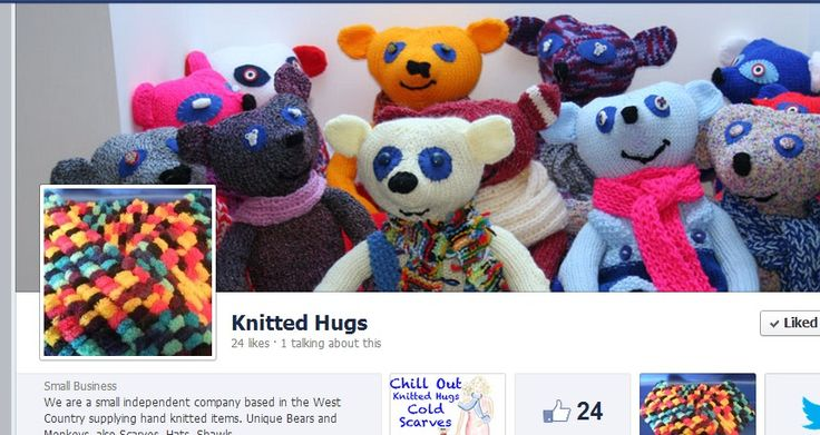 We are a small independent company based in the West Country supplying hand knitted items. Unique Bears and Monkeys, also Scarves, Hats, Shawls.