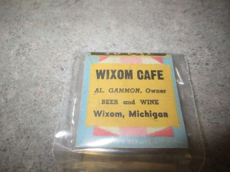 Vintage Matchbook for WIXOM CAFE of Wixom Michigan