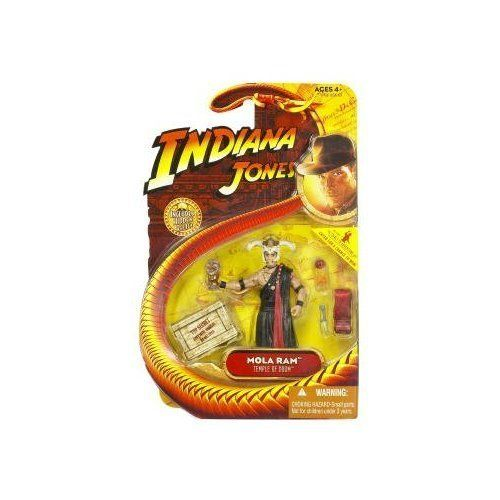 """Indiana Jones Movie Hasbro Series 4 Action Figure Mola Ram (Temple of Doom) by Hasbro. $25.49. For Ages 4 & Up. Indiana Jones 3 3/4"""" action figure line from Hasbro. Mola Ram is from the Temple of Doom film action figure wave. Comes with movie-accurate weapons and hidden relic accessories. Articulated action figure, based on the memorable character from the Indiana Jones film."""