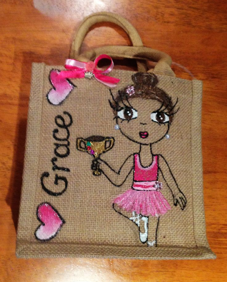 Grace! Small #handmade jute tote bag, ideal for small hands! Ideal way to #celebrate a special achievement! Check out more #customised #tote bags at https://www.etsy.com/shop/NuttyMakes