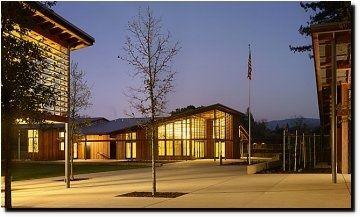Community Hall at Twilight