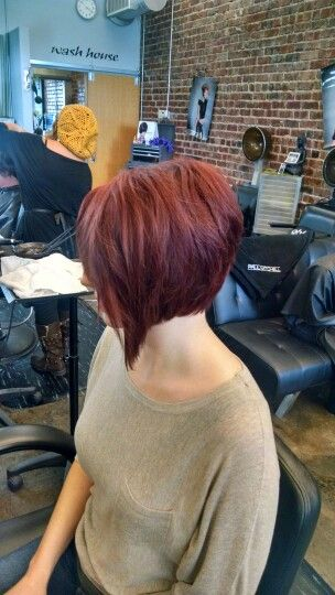 What a fun and trendy way to individualize a bob haircut. Disconnected bob haircut. @rachel.andra