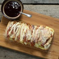 Monte Cristo Bread Photo--when a recipe has 16 individually numbered steps, I usually skip it and go to something less complicated, but this pull apart bread is a great appetizer/snack.  Give it a try!