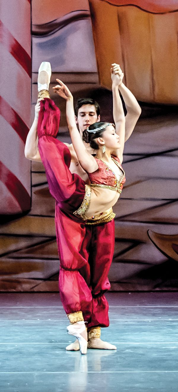 "Maya Wheeler didn't let os trigonum end her dance dreams.    Photo: Wheeler in ""The Nutcracker"" with Anthony Cannarella-Anderson in 2012 (photo by Vikki Sloviter)"