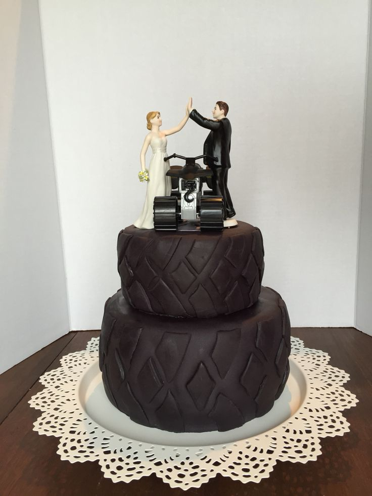 quad tire wedding cake crystal 39 s creations cakes pinterest wedding cakes quad and wedding. Black Bedroom Furniture Sets. Home Design Ideas