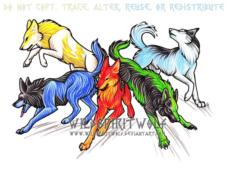 Wolf Anime Coloring Pages