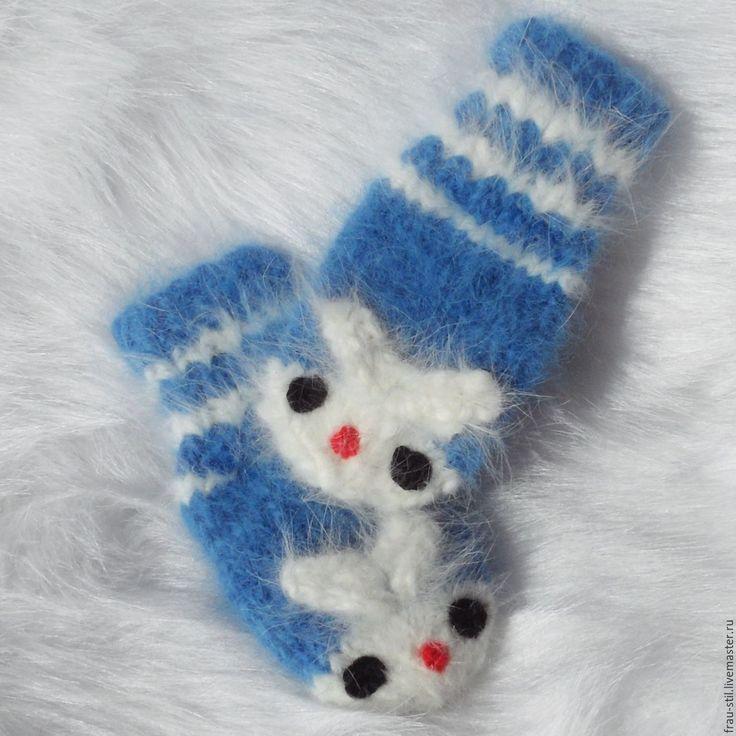 Купить Варежки вязаные варежки пуховые детские НЕКОЛЮЧИЕ!!! von Frau Stil…
