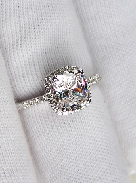 "He doesn't like this ring because he said,""the accent diamonds are way too small...""!? *jaw dropped* Uhm, this man is already perfect for me and he has extra bonus qualities!?!?! Winning!"