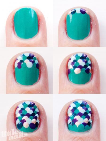 mermaid scales nail art