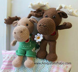 Large Crochet Moose Free Pattern