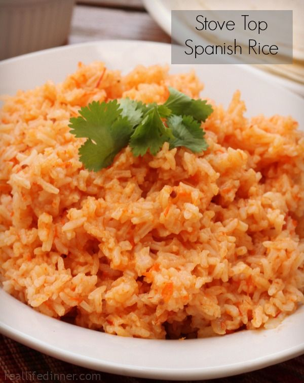Stove Top Spanish Rice. Excellent.