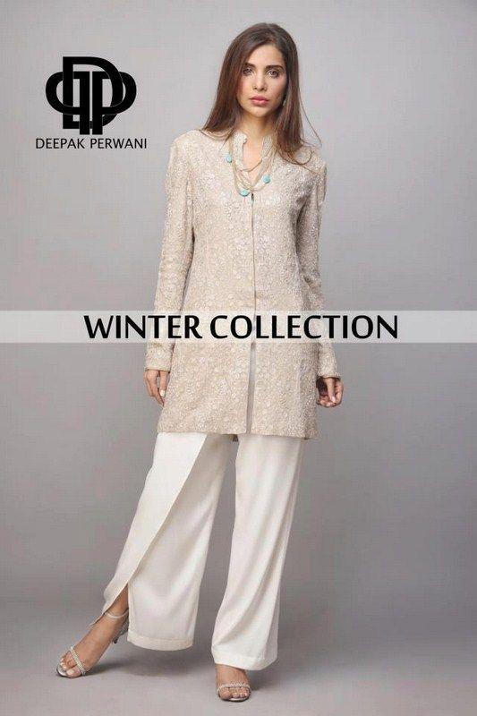 Deepak Perwani Winter Dresses 2013 For Women 006