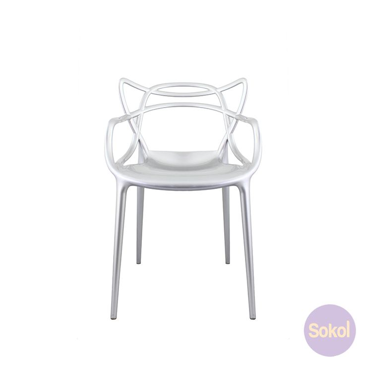 Replica Phillipe Starck Masters Chair - Premium silver