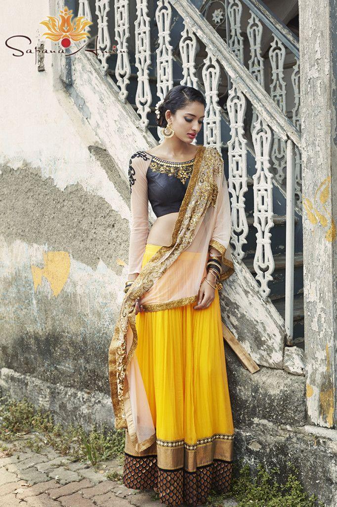 Beautiful #Lehenga,#Choli, Bali #Earrings, #Hair w/ Flowers, Bombay Eclectic Collection Editorial Photoshoot by SapanaAmin.com