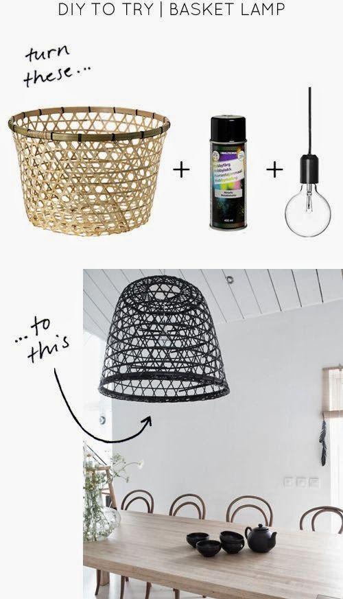 DIY : basket lamp / Blog La petite fabrique de rêves