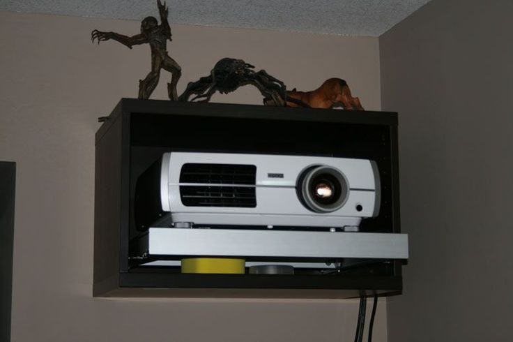 IKEA DIY Projector mount for home theater projector http://www.projectorpeople.com/home-theater/professional.asp #hometheaterprojector #hometheaterprojectormount #hometheaterhacks