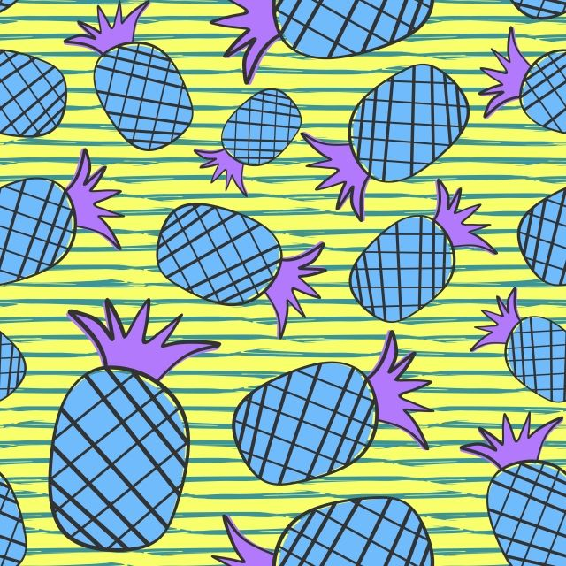 Cute Hand Drawn Tropical Fruits Seamless Pattern Background How To Draw Hands Tropical Fruits Clip Art Borders