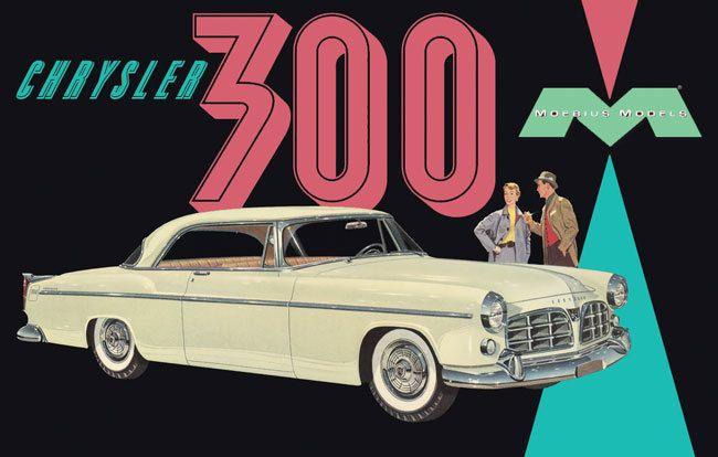MegaHobby.com - 1955 Chrysler C300 1/25 Moebius, $24.59 (https://www.megahobby.com/products/1955-chrysler-c300-1-25-moebius.html)