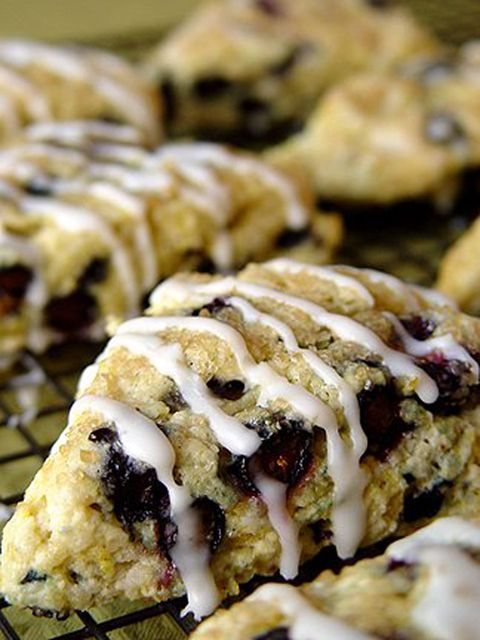 Blueberry Scones with Lemony Glaze
