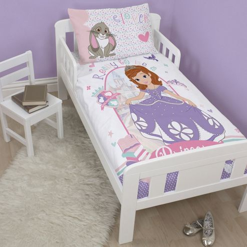 Disney Sofia The First Academy Junior Toddler Bed Duvet Cover and Pillowcase Set