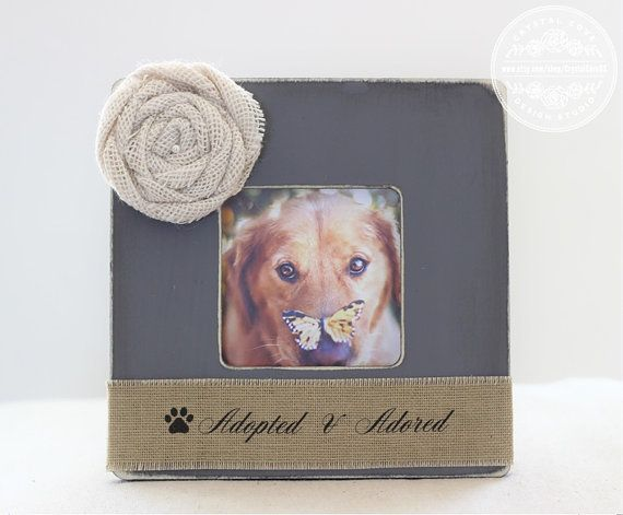 Dog Adopted Rescued Personalized Picture Frame by CrystalCoveDS $27.95