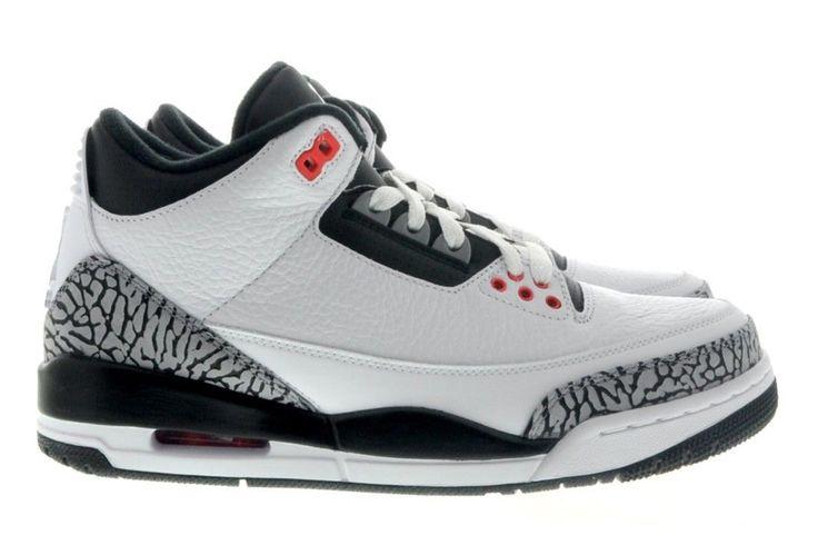 http://www.newjordanstores.com/ 136064-123 Air Jordan 3 Infrared 23 White/Cement Grey-Infrared 23-Black $119.99